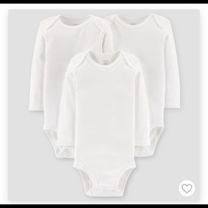 3 pack long sleeve bodysuit from just one you